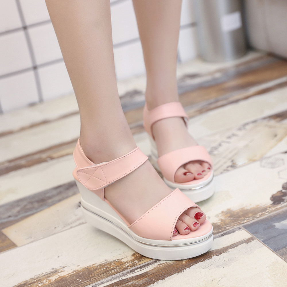 Woman Sandals Shoes Female Slipper Flip Flops Girl Super High Heel Footwear Platform Wedges 2017 Summer Sweet Beach Casual New phyanic 2017 gladiator sandals gold silver shoes woman summer platform wedges glitters creepers casual women shoes phy3323