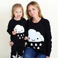 Весна 2017 родитель-ребенок наряд детская одежда МОДУЛИ горячий стиль, мужской и женский ребенка облака пуловеры сыновней мать свитер