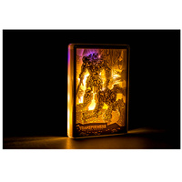 Anime Image Decoration Acrylic Stereo Desk Lamp Sculpture Paper Carving Crystal Frame Creative Kids Gift H90