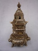 Collectable Ming Dynasty (xuan de1426-1438)Silver Tower   Incense Stove\Censer,Decoration