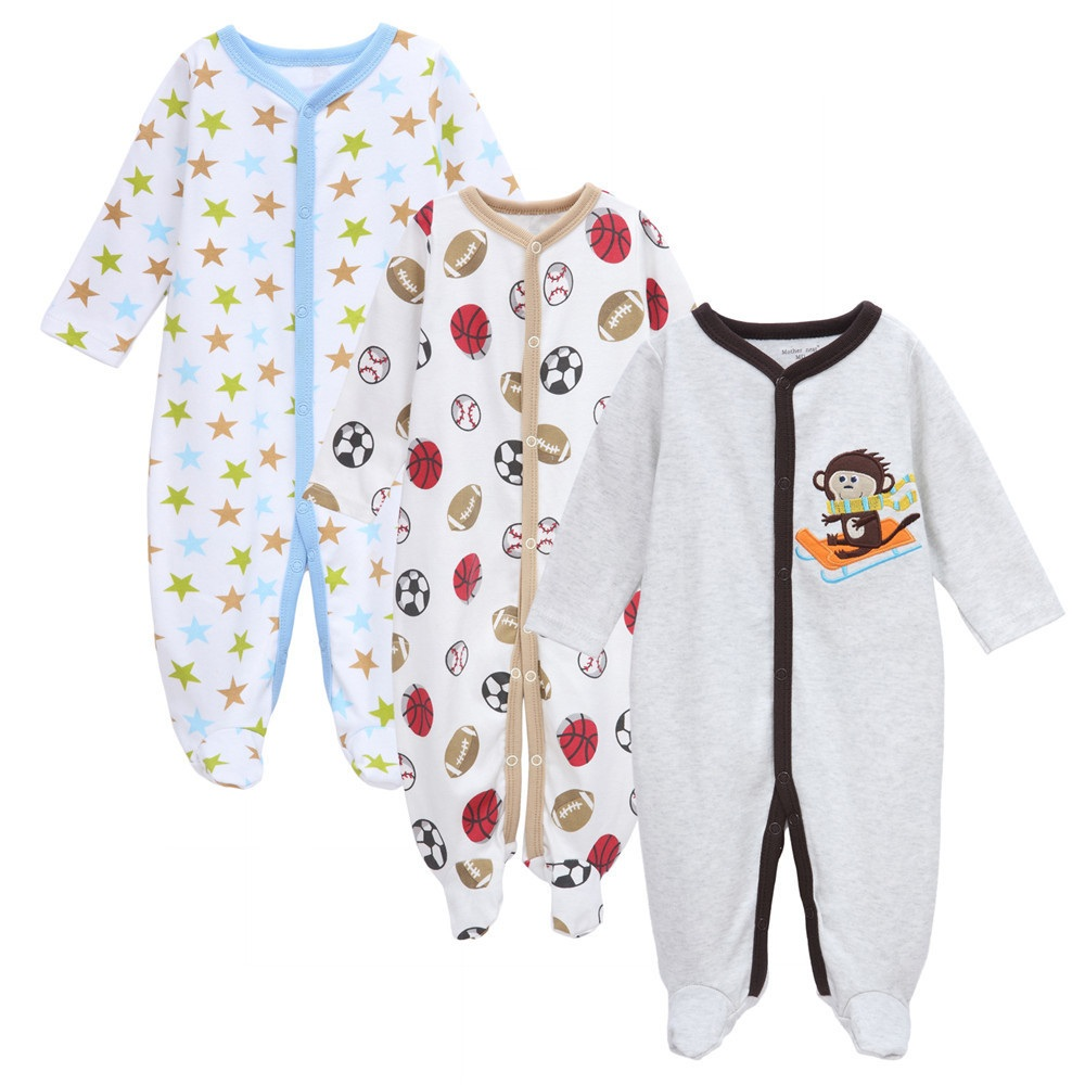 Mother Nest 3sets/lot Autumn Baby Boy Clothes toddle Jumpsuit long Sleeve Baby Clothing Set one-piece Boys bodies suits rompers накладки для пеленания candide коврик с валиками овальный baby nest 82x52