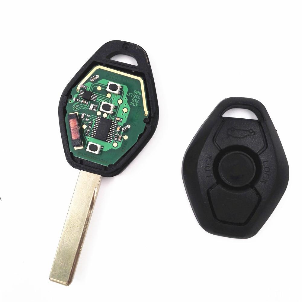HKCYSEA 3 botón Llave Del Coche A Distancia Recta Para BMW CAS2 315/433 MHZ Con