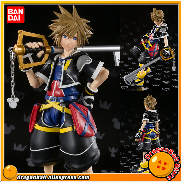 Japan Anime Kingdom Hearts II Original BANDAI Tamashii Nations S.H. Figuarts / SHF Action Figure - Sora japan anime lupin the 3rd original bandai tamashii nations shf s h figuarts toy action figure fujiko mine