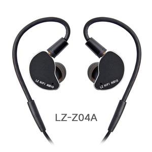 Image 1 - 2019 LZ Z04A באוזן אוזניות דינמי כונן HIFI IEM מתכת אוזניות Earbud עם נתיק לנתק MMCX כבל MMCX להסרה