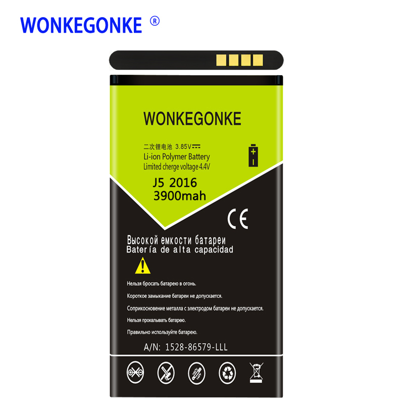 WONKEGONKE EB-BJ510CBC Li-ion Phone <font><b>Battery</b></font> for <font><b>Samsung</b></font> Galaxy J5 2016 Edition j5109 j5108 <font><b>J510</b></font> <font><b>battery</b></font> image