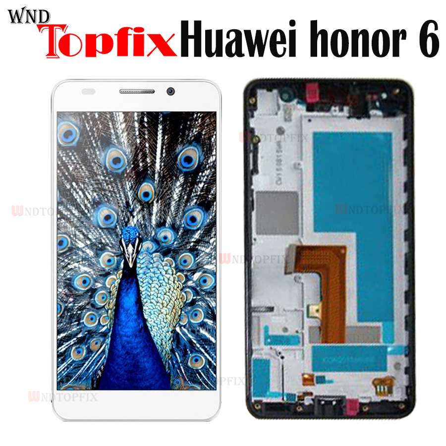 For Huawei Honor 6 LCD Display Touch Screen Digitizer For Huawei Honor 6 Display With Frame Black White Screen Replacement