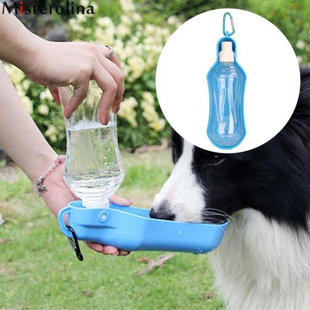 500ml 250ml Pet Dog Water Bottle Outdoor Drinking Fountain Slow Dispenser Plastic Travel