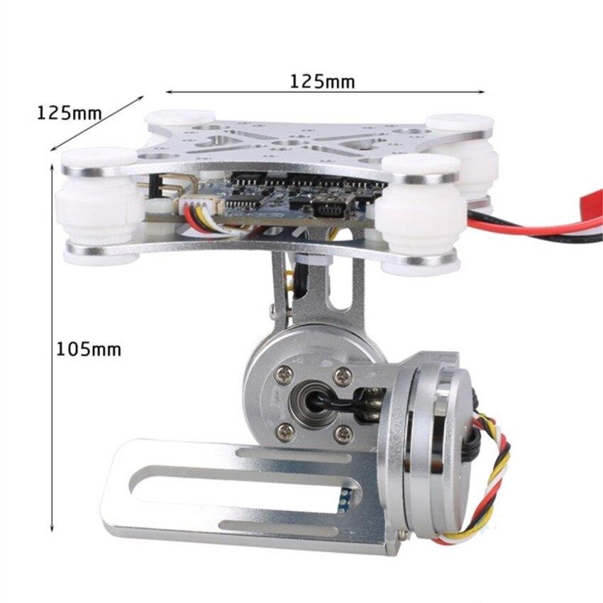 Для Gopro SJCAM XIAOMI YI Action Камера Экен 2-Aixs 2D бесщеточный Камера Gimbal для F450 F550 S500 FPV Drone Квадрокоптер