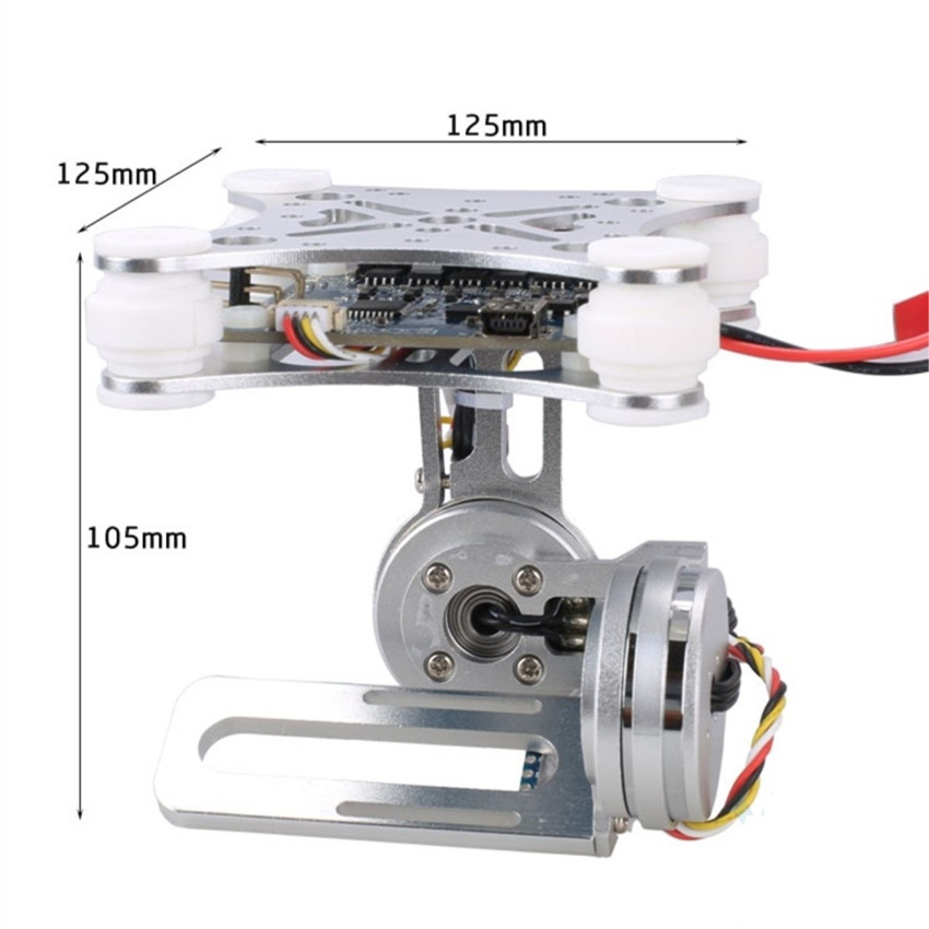 for Gopro SJCAM XIAOMI YI Action Camera Eken 2 Aixs 2D Brushless Camera Gimbal for F450 F550 S500 FPV Drone Quadrocopter