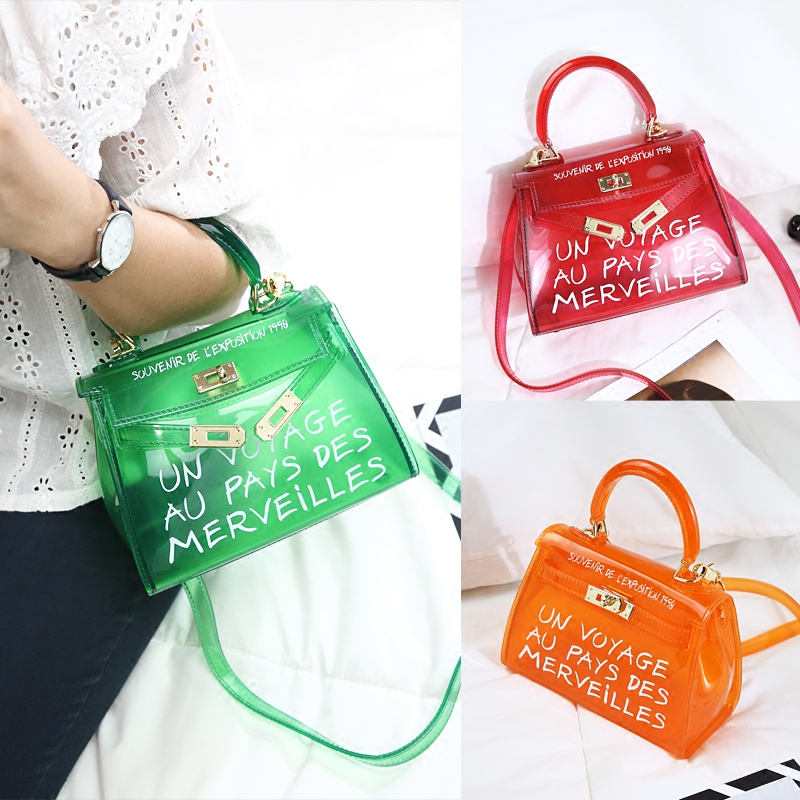 Pvc White Orange Big Progettista small Della Borsa Red Benviched big small Caramella Gelatina Delle Di Tote Colore White Bolsa Satchel Crossbod big Green Black Del Trasparente small Red big Sacchetto small Orange Donne AqTBzTp6w