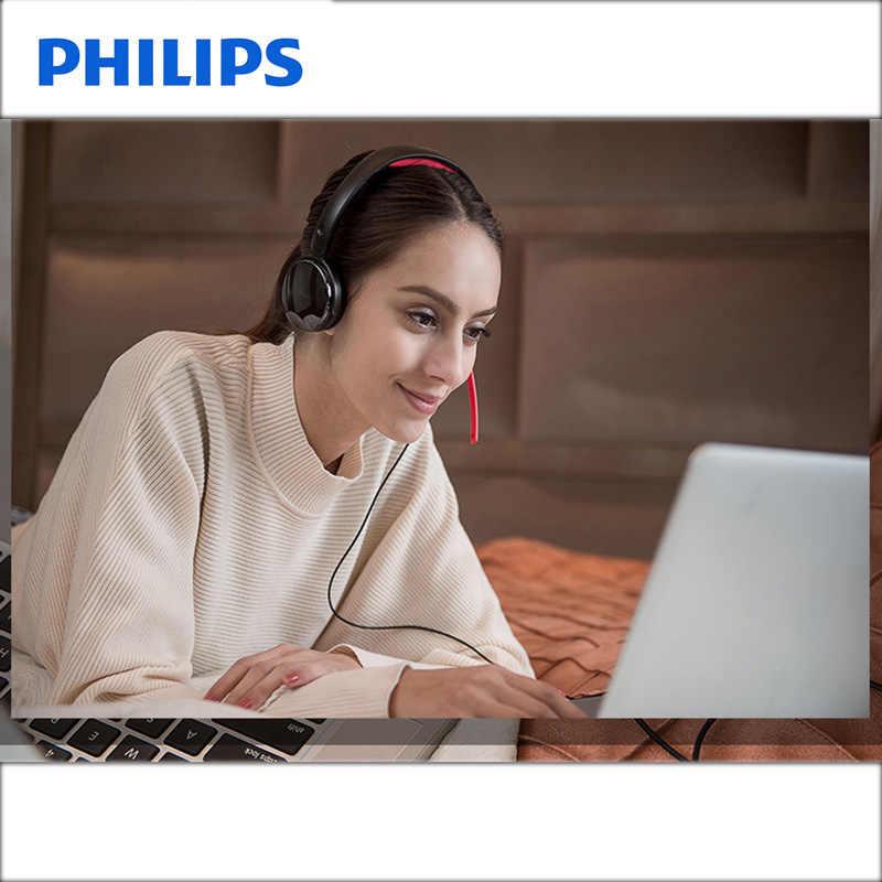Philips SHG7210 gier wideo słuchawki 2 metrów długości giętki przewód zestaw słuchawkowy z mikrofonem dla Xiaomi MP3 odtwarzacz oficjalny Test