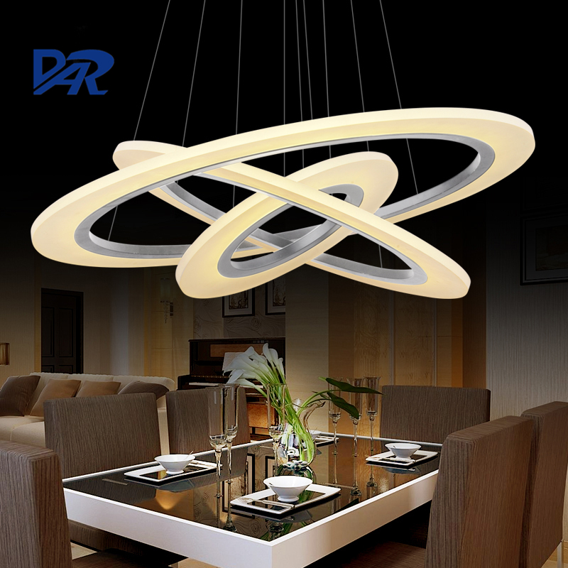 DIY 1/2/3 Rings Acrylic Pendant Lights For Dining Living Room Modern Led Hanging Lamp Lamparas Colgantes Abajur Lampe Lampadario modern led pendant lights for dining living room hanging circel rings acrylic suspension luminaire pendant lamp lighting lampen