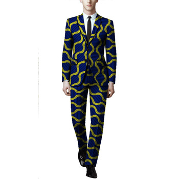 African Print Men Blazer And Trouser Set Mal Blazers African Dashiki Pant  Suits Festive African Outfits For Men Suits