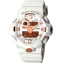 55mm SANDA Sport Couple Watches Chronograph Week Date Waterproof Dual Digital Display Quartz Movement Women Wristwatches SD770