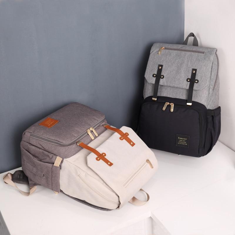HTB143HiXWSs3KVjSZPiq6AsiVXad 2019 Diaper Bag Mummy Daddy Backpack Baby Stroller Bag Waterproof Oxford Handbag Nursing Nappy Bag Kits USB Rechargeable Holder
