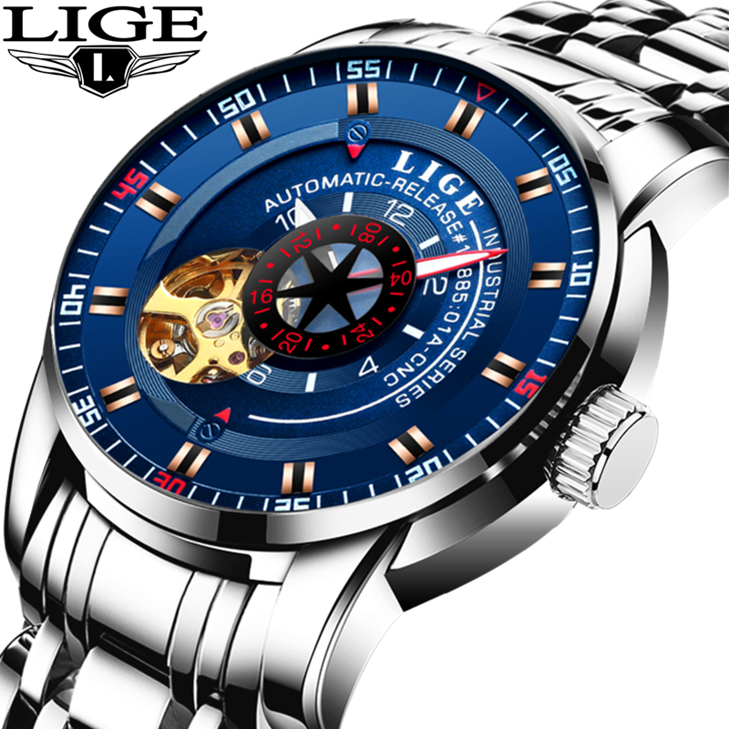 LIGE Watch font b Men b font Business Waterproof font b Clock b font Mens Watches