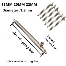 Spring bar watch repair parts 304 Stainless steel pin 1.5mm Diameter 20PCS / lot tools & kits 18MM 20MM 22MM