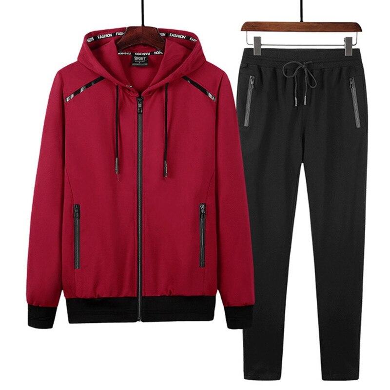 Printemps et automne sport costume grande taille commerce Sportswear hommes course à manches longues hommes ensembles 9XL 8XL 7XL - 5