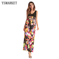 New Arrival Women Floral Long Dress Evening Party Beach Dresses Summer Women Dresses Sundress F058