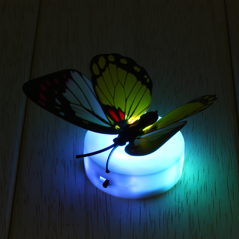 Auto Change Colorful Butterfly LED Night Light Lamp Home Room Desk Wall Decor AB Colors-Auto-Change Romantic Wall Night Light