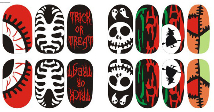new star luminous all 14 posts kitty harajuku halloween nail stickers 5