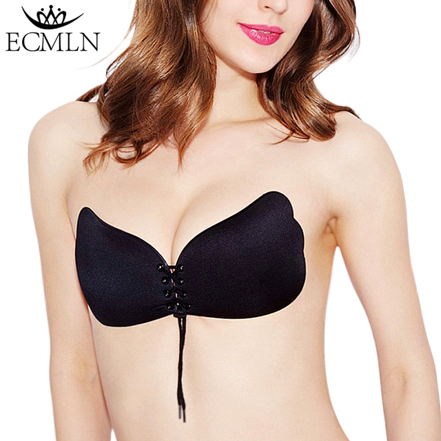 Self Adhesive Strapless Blackless Solid Stick Gel Silicone Invisible Bra