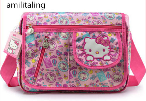 eabca157162 New Women Girl Hello kitty Large Messenger Bag Purse Handbag yey 1102-in  Shoulder Bags from Luggage   Bags on Aliexpress.com   Alibaba Group