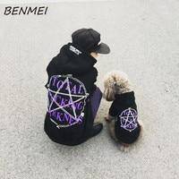 BENMEI Weich Frühling Herbst Stern Gedruckt Hund Kleidung Kostüm Teddy Hoodie Mantel Für Kleine Hund Mantel