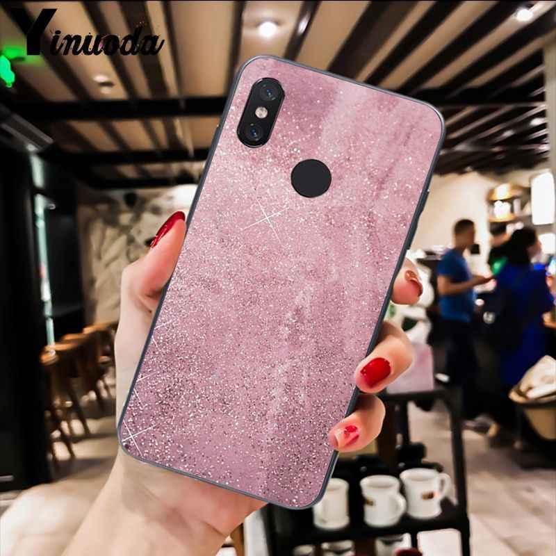 Yinuoda oro rosa mármol con brillo suave funda de teléfono para Xiaomi Redm4X 6A 5A 7A rojo mi 5 5Plus Note8 8Pro 7 mi A1 A2Lite