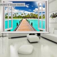 Momo海辺窓カーテンローラーシェードブラインド熱絶縁されたブラックアウトファブリックカスタムサイズ、アリス61