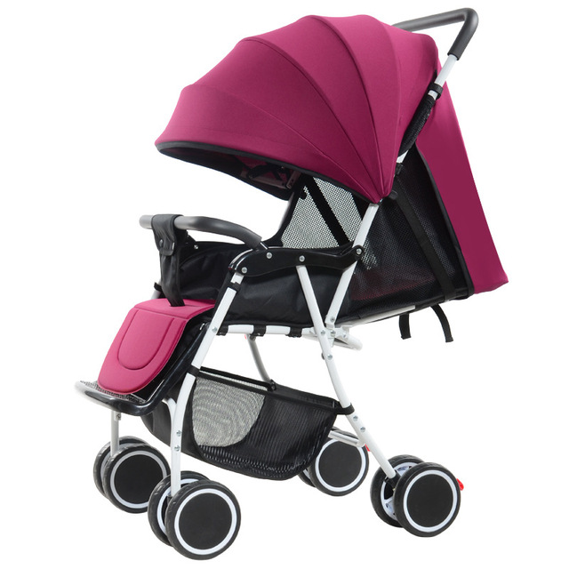 Factory Baby Stroller Lightweight Portable Baby Stroller High Landscape Four Wheels Baby Trolley Can Sit Lie Down Remove To Wash