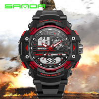New Fashion Waterproof Mountaineering Electronic Watches Men Women LED Outdoor Army Military Leisure Clock SANDA 018