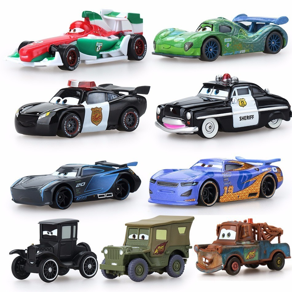 39 Style Disney Pixar Cars 2 3 Jackson Storm Ramirez Diecast Vehicle Metal Car Alloy Boy Kid Fireman Sam Toys Christmas Gift