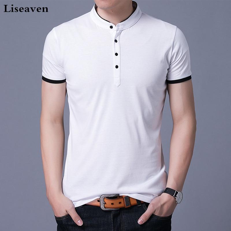 Liseaven Brand Men   Polo   Shirts Short Sleeve Shirt Solid   Polo   Homme Cotton   Polos   Slim Fit Camisa Men