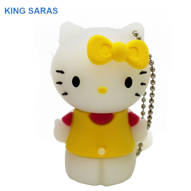 Image 5 - KING SARAS red pinl bule gree yellow colour cute hello Kitty shoe usb flash drive usb 2.0 4GB 8GB 16GB 32GB 64GB pendrive gift-in USB Flash Drives from Computer & Office