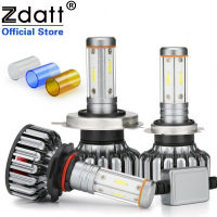 Zdatt 4 Sides 12000Lm H7 Led Canbus H4 LED Bulb H11 100W Headlight H8 9005 HB3 9006 3000K 6000K 8000K Car Lights 12V 24V CSP