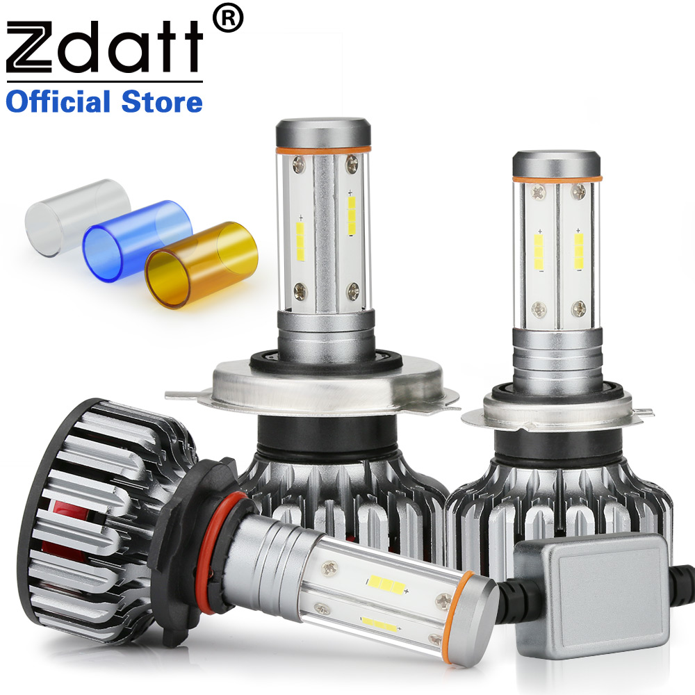 Zdatt H7 Led Canbus H4 LED Bulb H11 4 Sides CSP Chip 12000Lm 100W Headlight H8 9005 HB3 9006 3000K 6000K 8000K Car Lights 12-24V