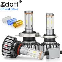 Zdatt H7 Led Canbus H4 LED Bulb H11 4 Sides CSP Chip 12000Lm 100W Headlight H8 9005 HB3 9006 3000K 6000K 8000K Car Lights 12 24V