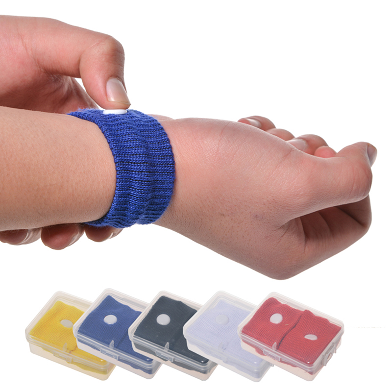 New  2Pcs Travel Morning Sickness Wrist Band Anti Nausea Car Van Sea Plane Wristband Anti-motion Sickness Bracelet Strap