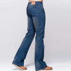 Image 4 - GRG Mens Jeans Tradition Boot Cut Leg Fit Jeans Classic Stretch Denim Flare Deep Blue Jeans Male Fashion Stretch Pants