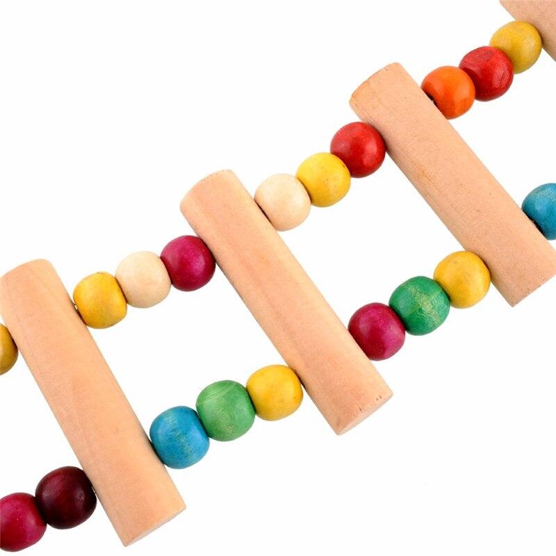 Деревянный попугай Drawbridge лестница для птиц поднимается канатная дорога хомяк игрушки птичья клетка мост обучение домашних животных с 4 крючками Прямая поставка