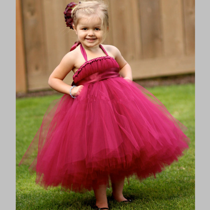Girls Tutu Dress Princess Tulle Flower Girl Dresses Pageant Ball Gown For Kids Party Prom Birthday Bridesmaid Wedding Dresses girls party tutu dress baby princess ball gown costume tulle children dress for kids pageant prom wedding flower girl dresses