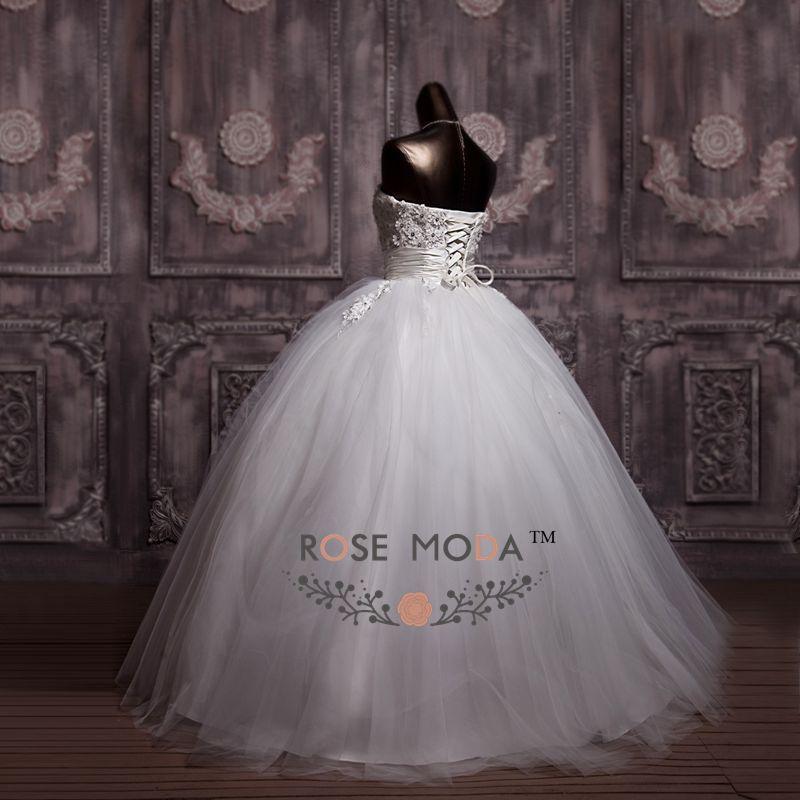 3D Floral Lace Corset Wedding Ball Gown Puffy Princess Wedding Dress Debutante Dress Vestidos de Noiva Real Photos