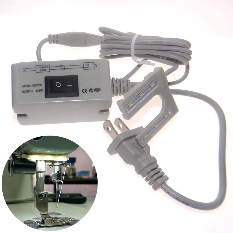 LED-bar Symaskin Verktyg Tillbehör U-form Lampor Skrivbord Arbetsbordslampa 110 220v spänning megnetisk monteringsbas
