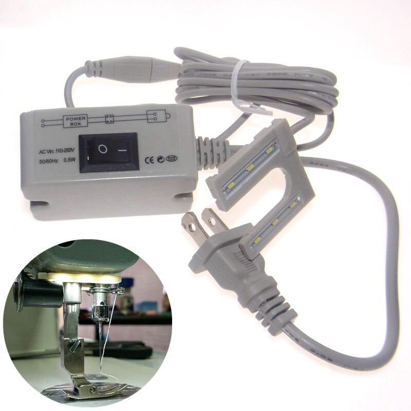 LED בר תפירה מכונת כלים אביזרים U-Shape מנורות שולחן עבודה שולחן עבודה מנורה 110 220v מתח megnetic הרכבה בסיס