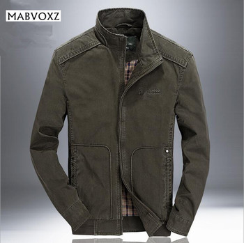AFSJEEP Autumn Winter Men Bomber Jacket Casual Stand Collar Military Army Mens Jackets And Coats Male Brand Clothing