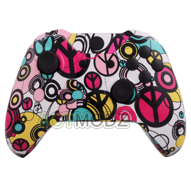 Peace Maker Patterned Full Shell Case Buttons Repair for Xbox One Controller