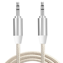 3.5mm to 3.5mm jack Mini Round type Car Aux audio Cable Extended Audio Auxiliary Cable for iPhone MP3 / MP4 Headphone Speaker