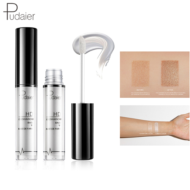Pudaier 2 Colors EyeShadow Primer Eye Makeup Face Base Cream Natural 24 Hours Lasting-makeup Eye Shadow Pallete Color Cosmetic