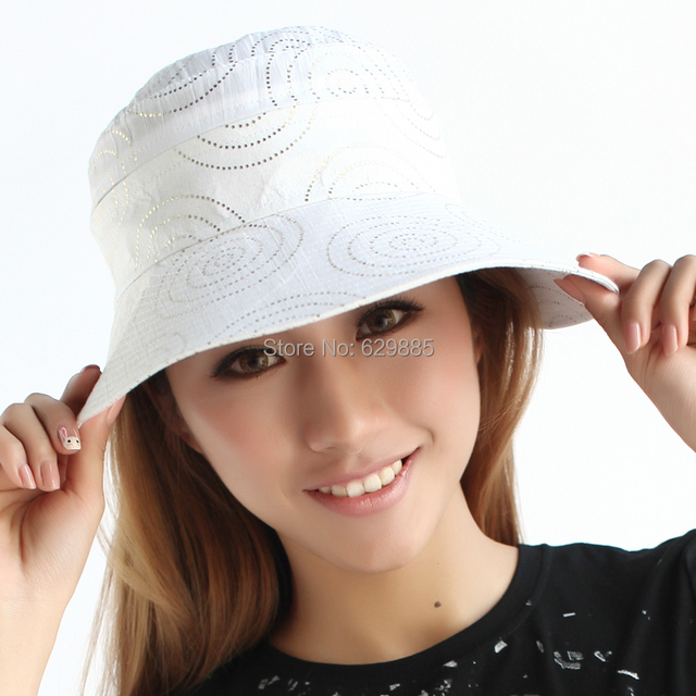 Women Fashion 100% cotton sunbonnet summer white lengthening brim casual cap sunscreen sun hat